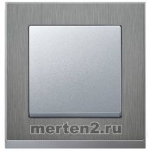 Рамки Merten M-Pure Decor (сталь/алюминий)